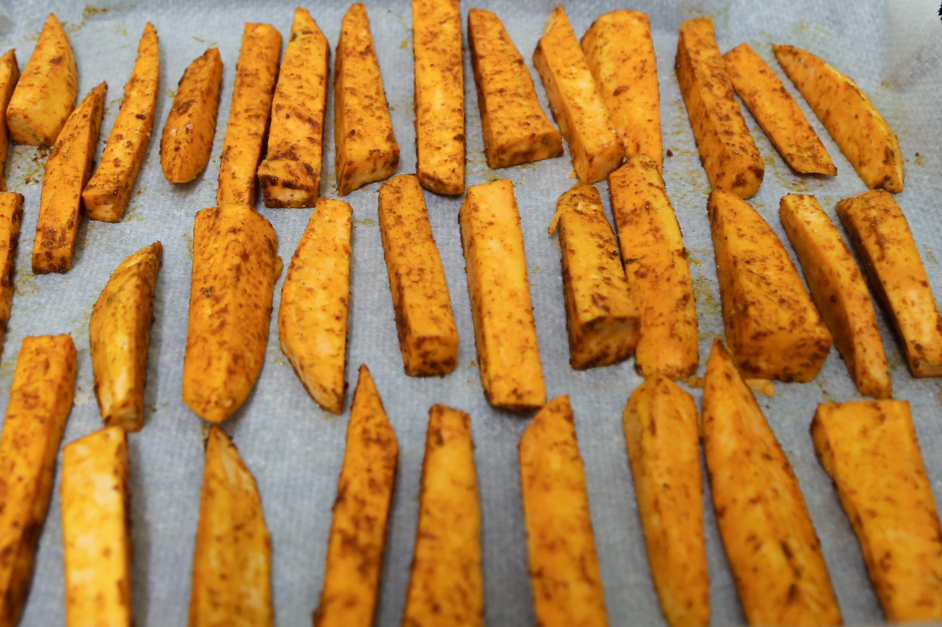 frites-de-patates-douces-au-four